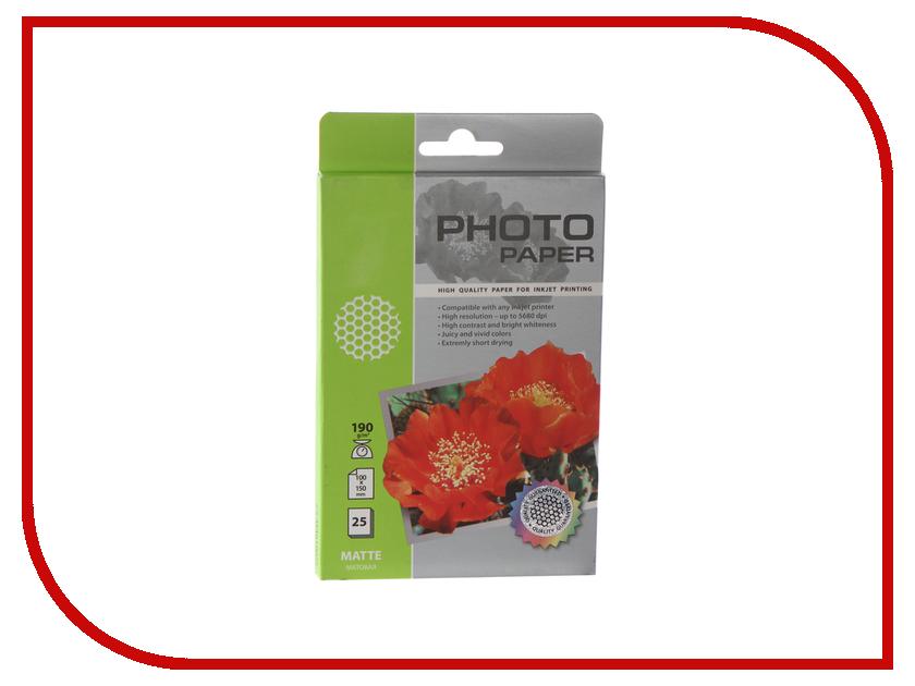 Фотобумага Cactus CS-MA619025 A6 190g/m2 25 листов White Matte