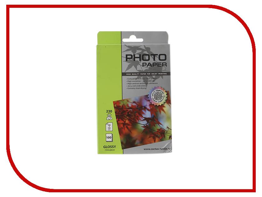 Фотобумага Cactus CS-GA6230100 10x15 230g/m2 100 листов White Glossy фотобумага cactus cs ma317050d