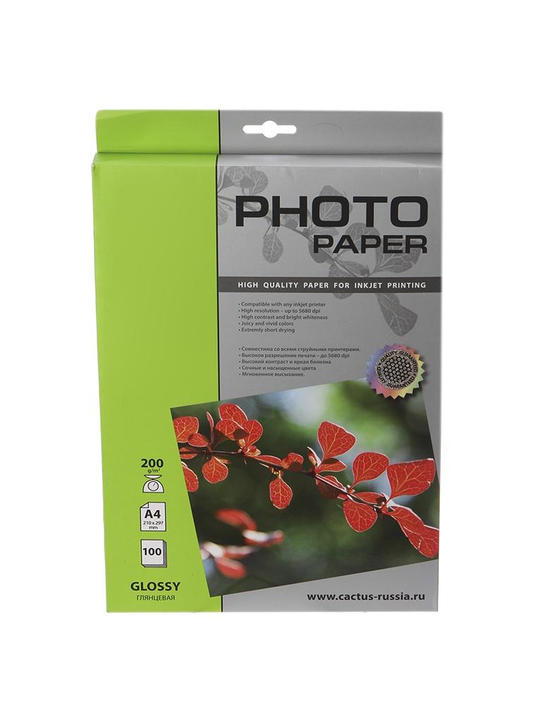 Фотобумага Cactus CS-GA4230100 A4 230g/m2 100 листов White Glossy