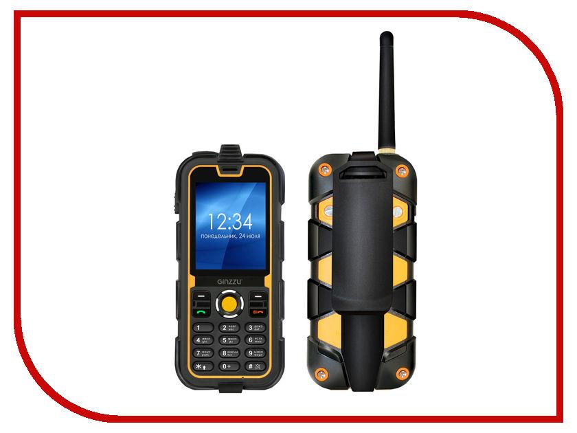 Сотовый телефон Ginzzu R62 Black-Orange сотовый телефон ginzzu rs93 dual black