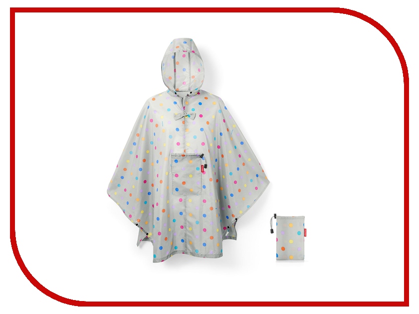 Плащ-дождевик Reisenthel Mini Maxi Stonegrey Dots AN7045
