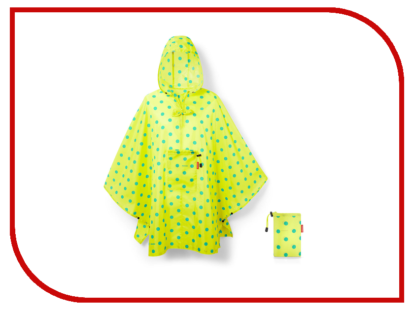 Плащ-дождевик Reisenthel Mini Maxi р.UNI 141x93cm Lemon Dots AN2025 reisenthel косметичка travelcosmetic xs dots