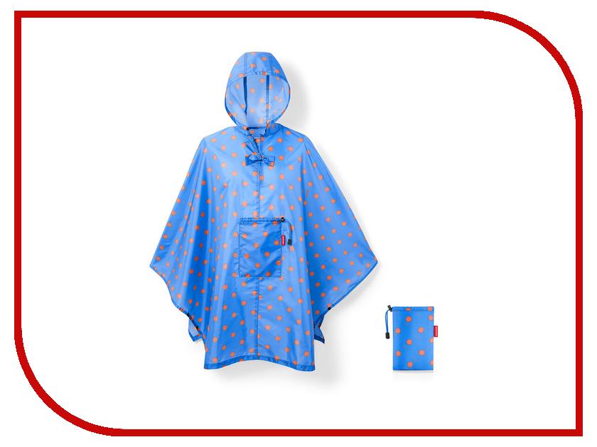 Плащ-дождевик Reisenthel Mini Maxi р.UNI 141x93cm Azure Dots AN4058 дождевики reisenthel дождевик mini maxi cactus blue