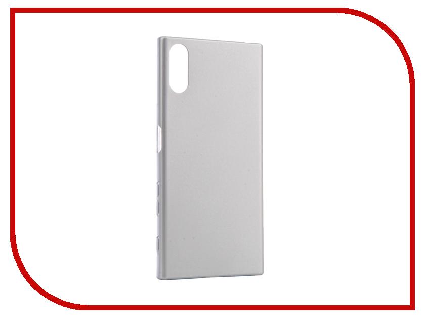 Аксессуар Чехол Sony Xperia XZs BROSCO Silver XZS-4SIDE-SOFTTOUCH-SILVER аксессуар чехол sony xperia xzs brosco pu black xzs book iceblue