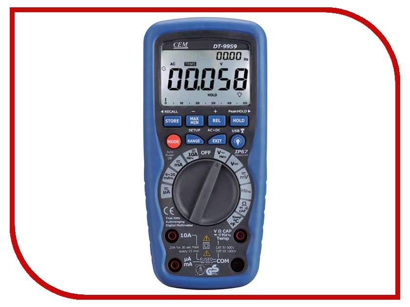 Мультиметр CEM DT-9959 мультиметр cem at 9955