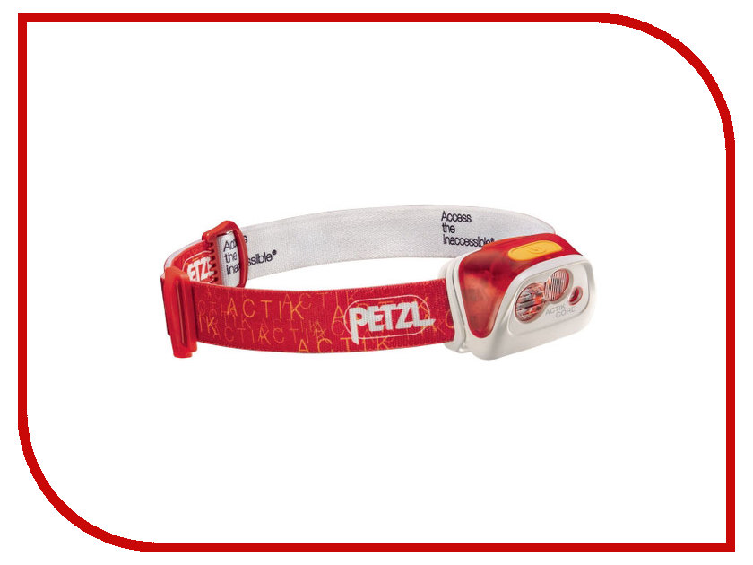 Фонарь Petzl Actik Core E99ABB Red зажим petzl petzl rescucender