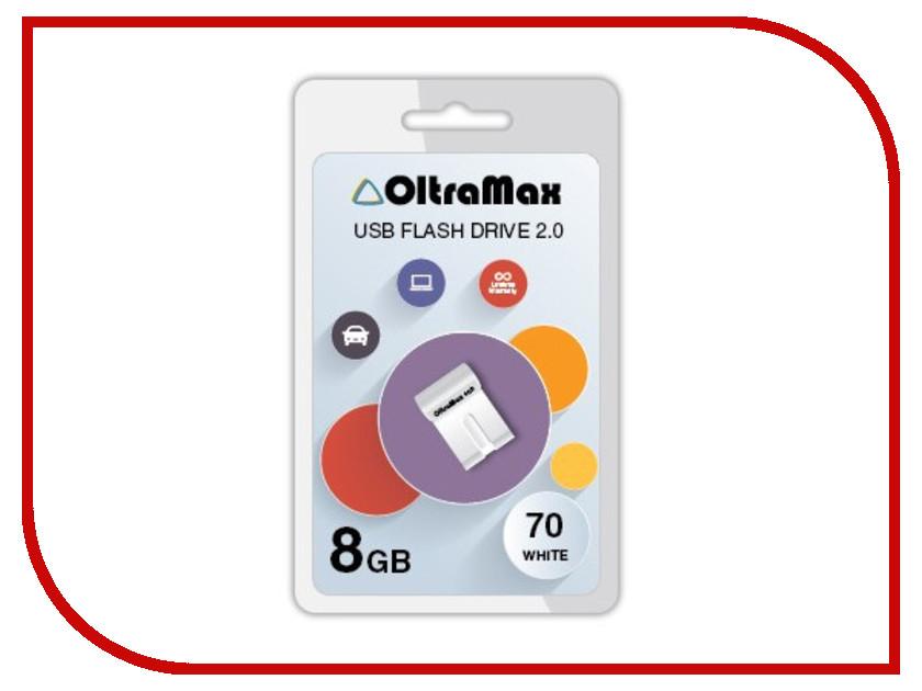 USB Flash Drive 8Gb - OltraMax 70 White OM-8GB-70-White