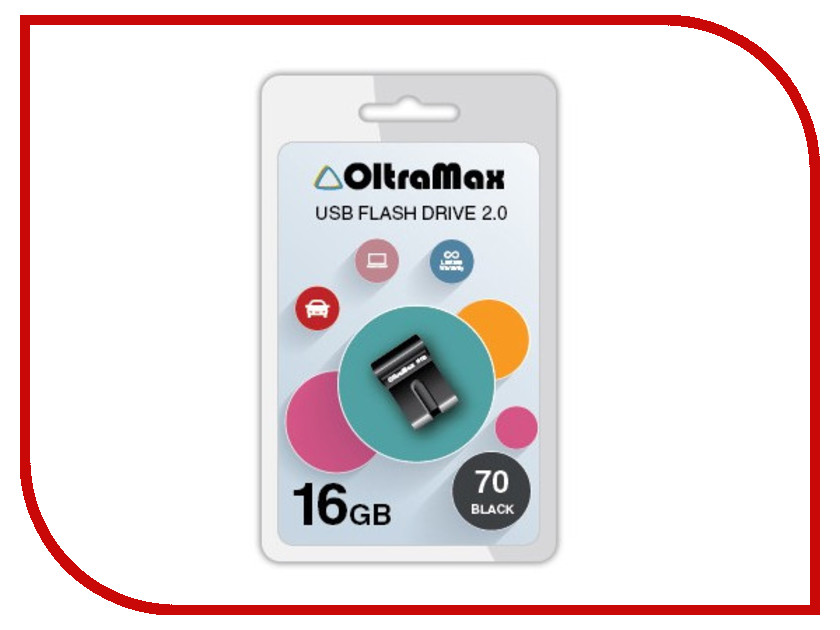 USB Flash Drive 16Gb - OltraMax 70 Black OM-16GB-70-Black