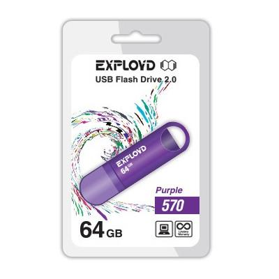 USB Flash Drive 64Gb - Exployd 570 EX-64GB-570-Purple
