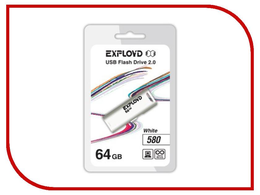 USB Flash Drive 64Gb - Exployd 580 EX-64GB-580-White