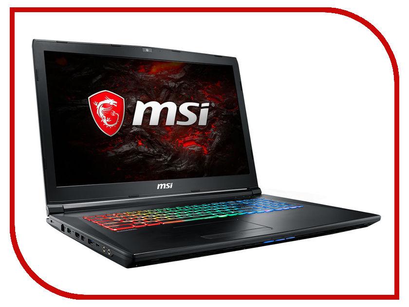 Ноутбук MSI GP72 7RDX-487XRU Leopard 9S7-1799B3-487 Black (Intel Core i7-7700HQ 2.8 GHz/16384Mb/1000Gb/DVD-RW/nVidia GeForce GTX 1050 2048Mb/Wi-Fi/Bluetooth/Cam/17.3/1920x1080/DOS) msi gp72 7rd 256xru