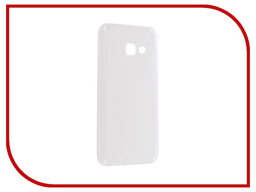 Аксессуар Чехол Samsung Galaxy A3 2017 Aksberry Silicone 0.33mm Transparent аксессуар чехол samsung galaxy a3 2017 cojess tpu 0 3mm transparent