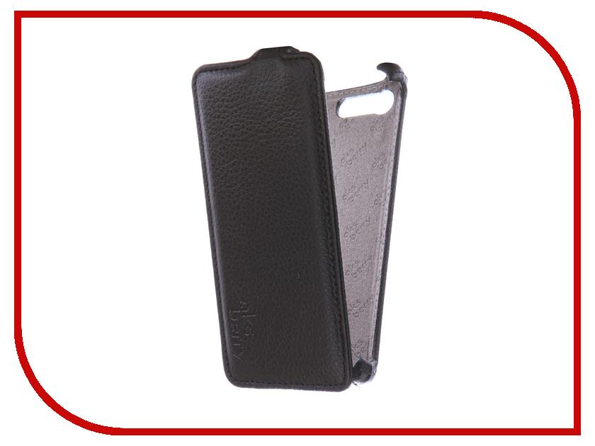 Аксессуар Чехол Sony Xperia X Compact Aksberry Black чехол книжка вертикальный для sony xperia e2 черный aksberry