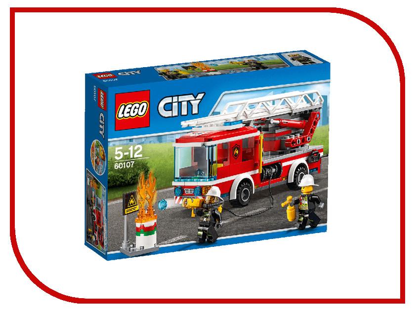 Конструктор Lego City Пожарный автомобиль с лестницей 60107 lego city конструктор мобильный командный центр 60139