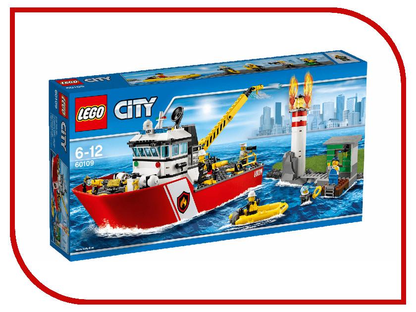 Конструктор Lego City Пожарный катер 60109