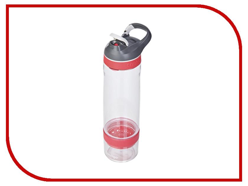 Бутылка Contigo Cortland Infuser 750 White-Pink contigo0672 термокружка contigo contigo0502