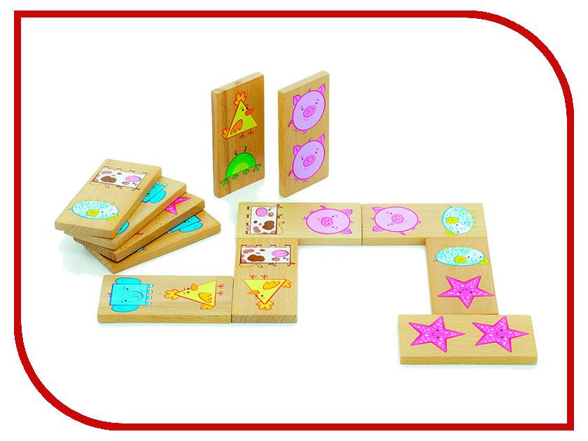 Настольная игра Мир деревянных игрушек Домино Фигуры Д394 мир деревянных игрушек мир деревянных игрушек фигуры магнитные транспорт