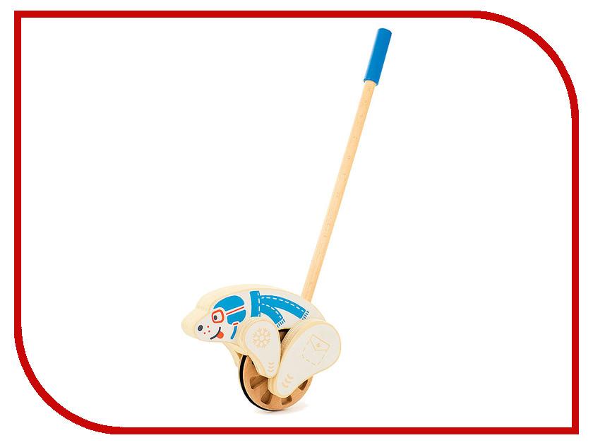 Игрушка Мир деревянных игрушек Каталка Мишка Д404