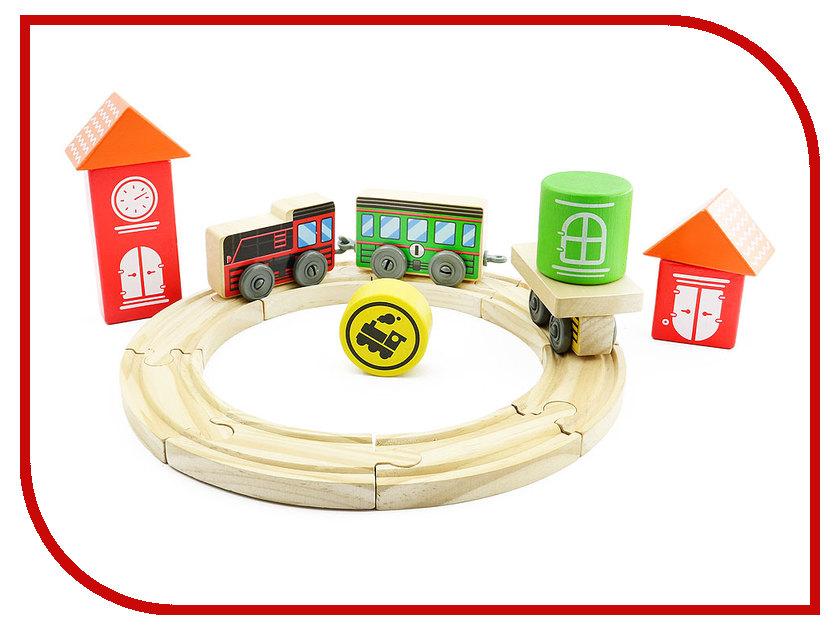 Игрушка Мир деревянных игрушек Трасса Локомотив Д406 мир деревянных игрушек цирк