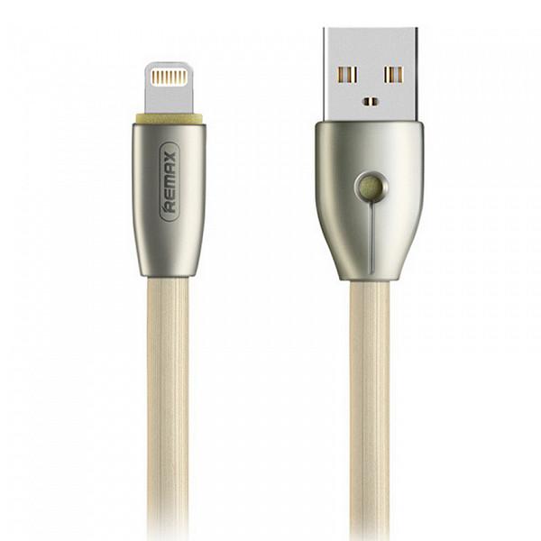 цена на Аксессуар Remax Knight RC-043i USB - Lightning для iPhone 5/6/7 Gold