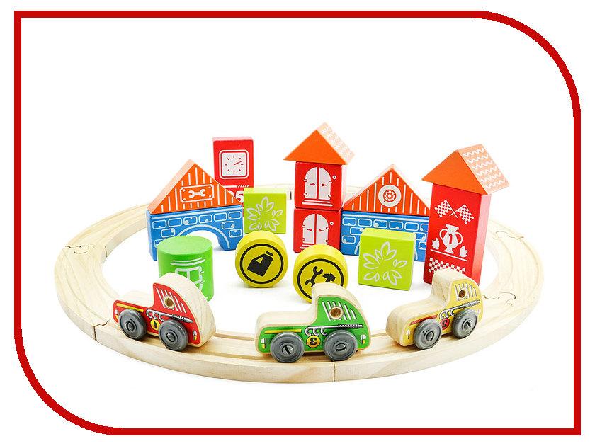 Игрушка Мир деревянных игрушек Трасса Гран-при Д407 игровые наборы игрушки из дерева игрушка трасса гран при
