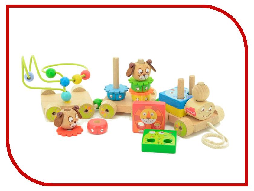Игрушка Мир деревянных игрушек Паровозик Чух-чух №1 Д419