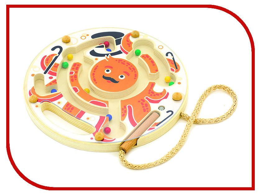 Игрушка Мир деревянных игрушек Магнитный лабиринт Осьминог Д424