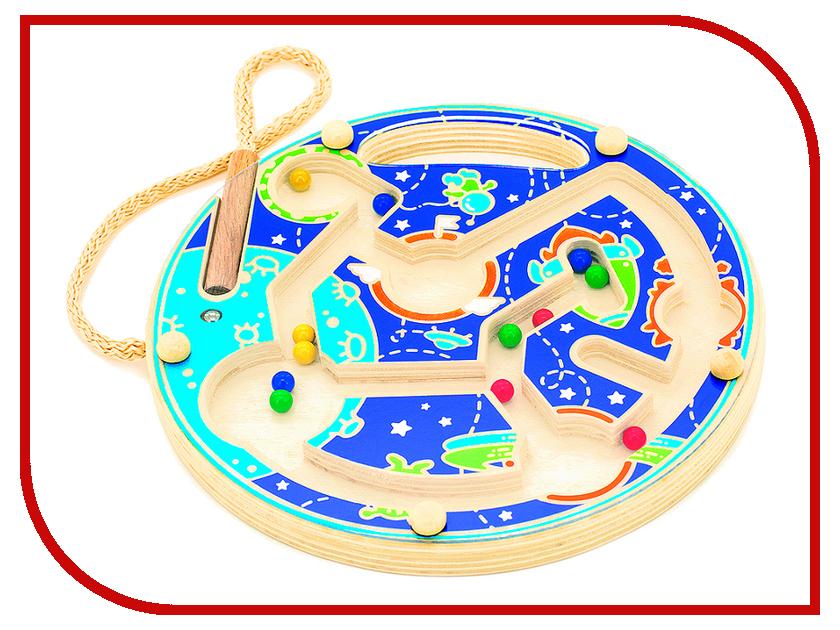 Игрушка Мир деревянных игрушек Магнитный лабиринт Космос Д425