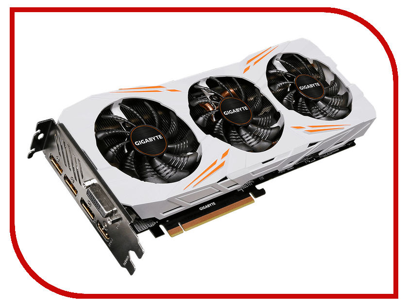 Видеокарта GigaByte GeForce GTX 1080 Ti 1544Mhz PCI-E 3.0 11264Mb 11010Mhz 352 bit DVI HDMI HDCP Gaming OC GV-N108TGAMING OC-11GD pci e to
