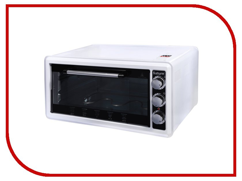Мини печь Saturn ST-EC1070 White мини печь saturn st ec1077 red