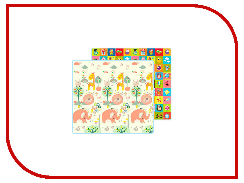 Развивающий коврик Mambobaby Мир животных + Совята 023ТМ игрушка mambobaby русский алфавит 004тм