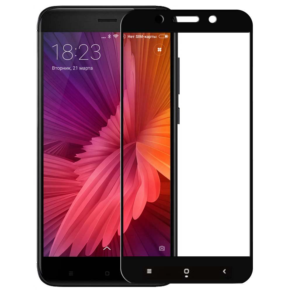 Аксессуар Закаленное стекло DF для Xiaomi Redmi 4X Full Screen xiColor-12 Black