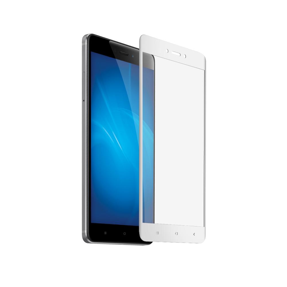 Аксессуар Закаленное стекло DF для Xiaomi Redmi 4X Full Screen xiColor-12 White аксессуар закаленноестеклодляxiaomi