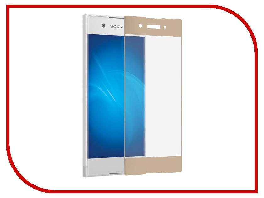 Аксессуар Закаленное стекло Sony Xperia XA1 DF Full Screen xColor-06 Gold