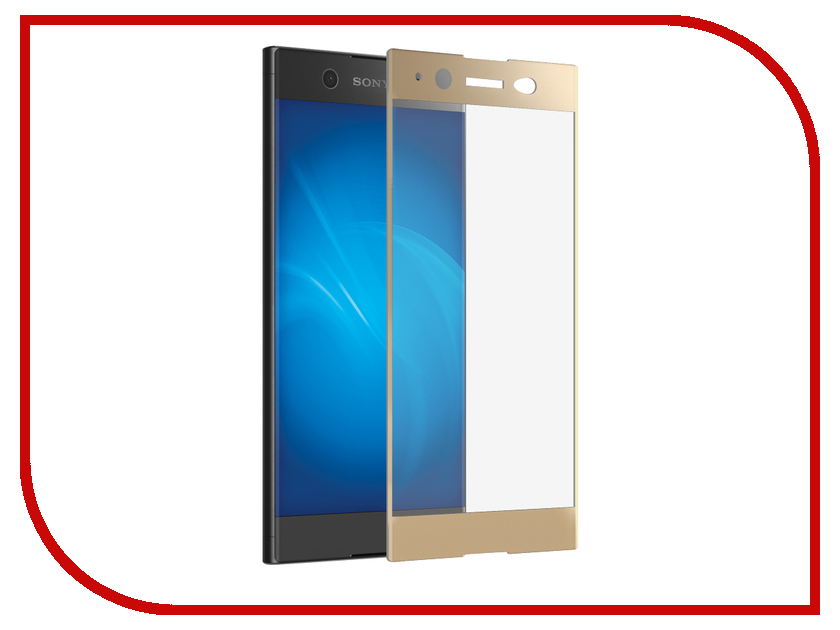 Аксессуар Закаленное стекло для Sony Xperia XA1 Ultra DF Full Screen xColor-07 Gold repair part replacement lcd screen modules for sony ericsson w760