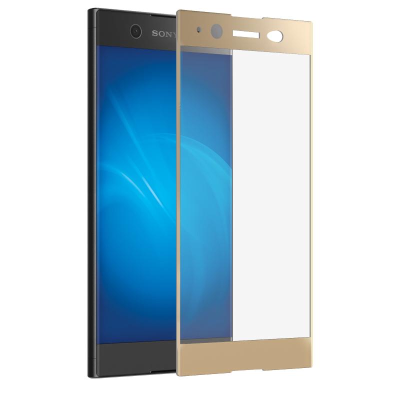 Аксессуар Закаленное стекло DF для Sony Xperia XA1 Ultra Full Screen xColor-07 Gold смартфон sony xperia xa1 ultra dual 32 гб белый g3212white