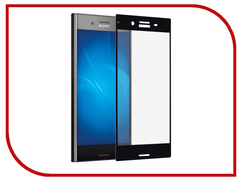 Аксессуар Закаленное стекло Sony Xperia XZ Premium DF Fullscreen xColor-08 Black аксессуар чехол sony xperia xz premium