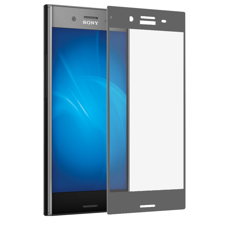 Аксессуар Закаленное стекло DF для Sony Xperia XZ Premium Full Screen xColor-08 Gray white lcd for sony for xperia m2 s50h d2302 d2303 d2305 d2306 lcd display touch screen assembly with frame free shipping