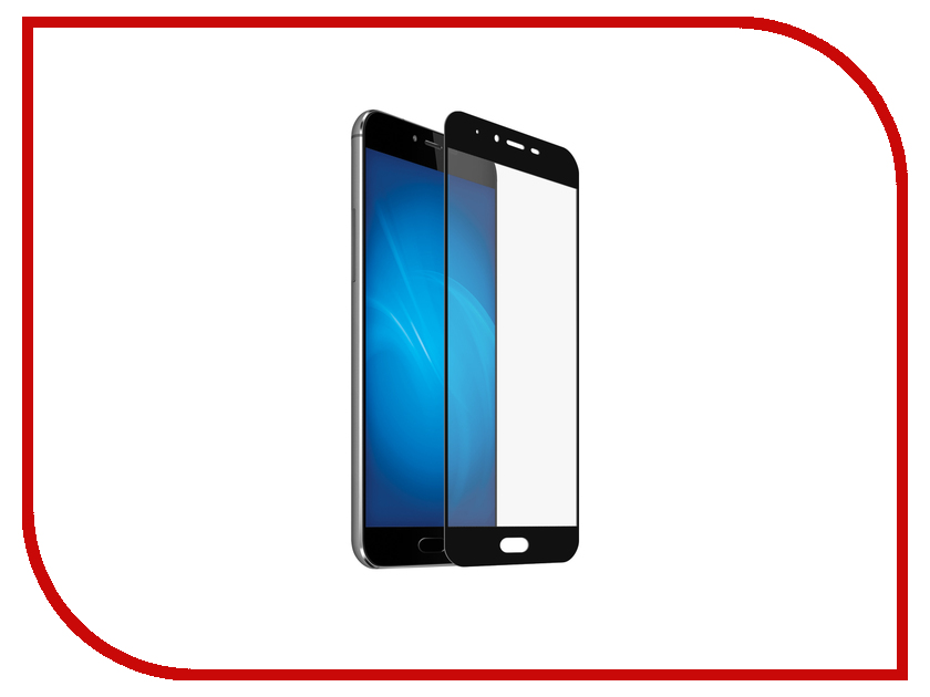 Аксессуар Закаленное стекло для Meizu M5/M5S DF Full Screen mzColor-09 Black 100% tested for meizu m5s meilan 5s lcd mini display touch screen digitizer assembly replacement free shipping with tools as gift