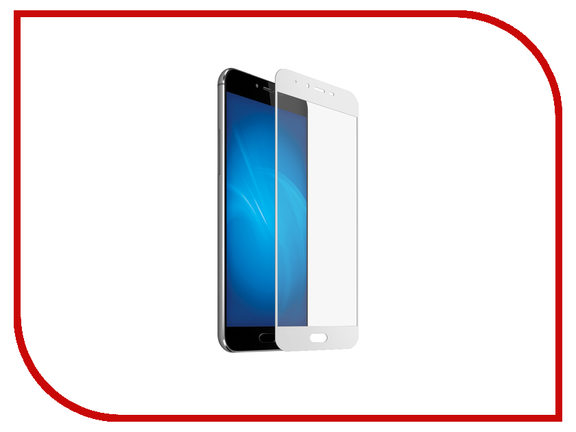 Аксессуар Закаленное стекло для Meizu M5/M5S DF Full Screen mzColor-09 White 100% tested for meizu m5s meilan 5s lcd mini display touch screen digitizer assembly replacement free shipping with tools as gift