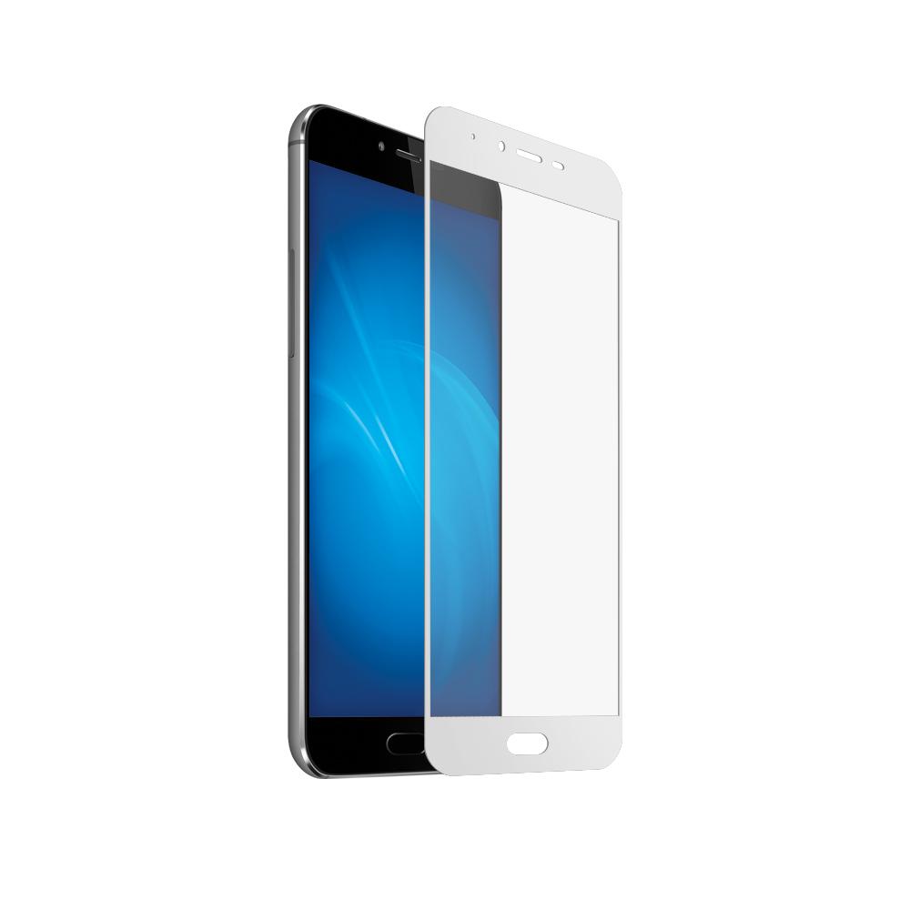 Аксессуар Закаленное стекло DF для Meizu M5/M5S DF Full Screen mzColor-09 White
