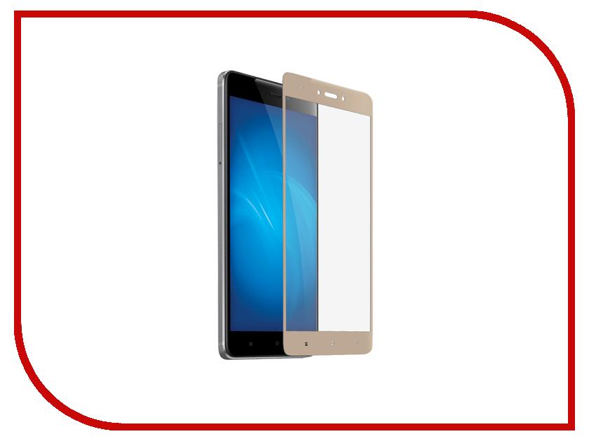 Аксессуар Закаленное стекло для Xiaomi Redmi Note 4X DF xiColor-10 Gold защитное закаленное стекло koolife для xiaomi redmi note 4 note 4x версии 4gb 64gb
