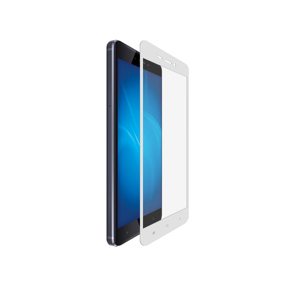 Аксессуар Закаленное стекло DF для Xiaomi Redmi Note 4X DFxiColor-10 White аксессуар закаленноестеклодляxiaomi