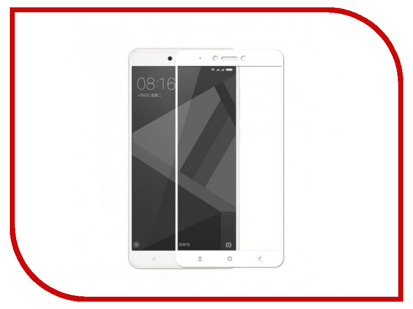 Аксессуар Защитное стекло для Xiaomi Redmi Note 4X Zibelino TG Full Screen White 0.33mm 2.5D ZTG-FS-XMI-NOT4X-WHT аксессуар защитное стекло для xiaomi mi max zibelino tg full screen 0 33mm 2 5d white ztg fs xmi max wht