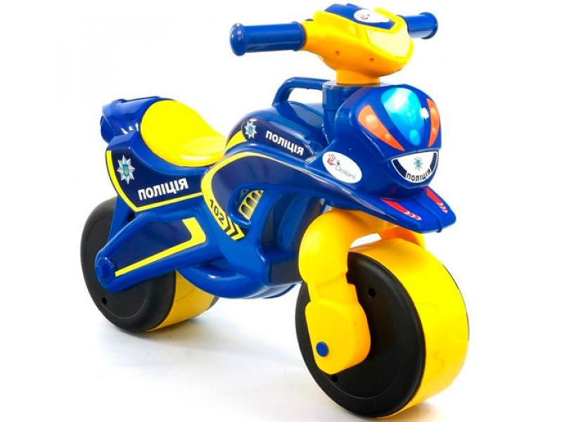 цена на Беговел Doloni Мотобайк 139/57 Yellow-Blue