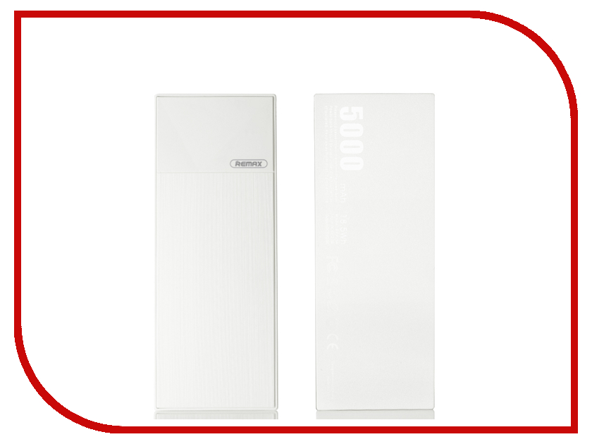 Аккумулятор Remax Thoway RPP-54 Power Bank 5000mAh White power bank 6000 mah remax rpp 16 розовый remax