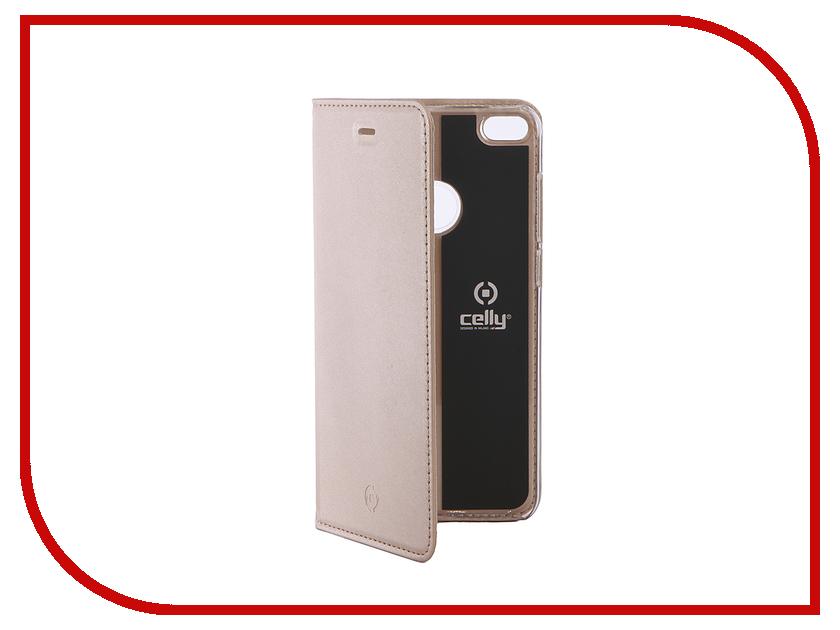 Аксессуар Чехол Huawei Honor 8 Lite Celly Air Gold AIR642GDCP