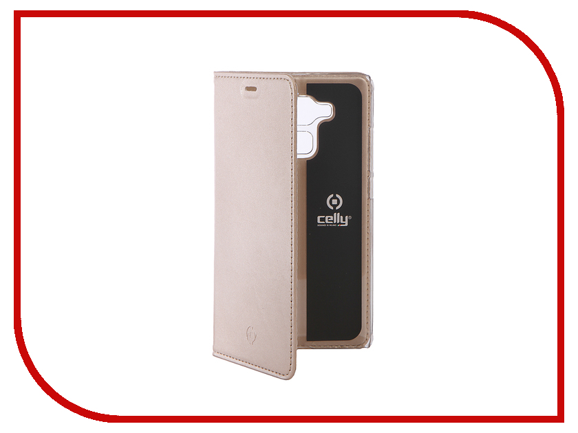 Аксессуар Чехол Huawei Honor 5С Celly Air Gold AIR588GDCP<br>