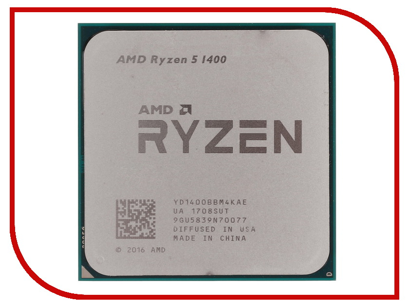 Процессор AMD Ryzen 5 1400 OEM YD1400BBM4KAE процессор amd ryzen 5 1400 oem yd1400bbm4kae