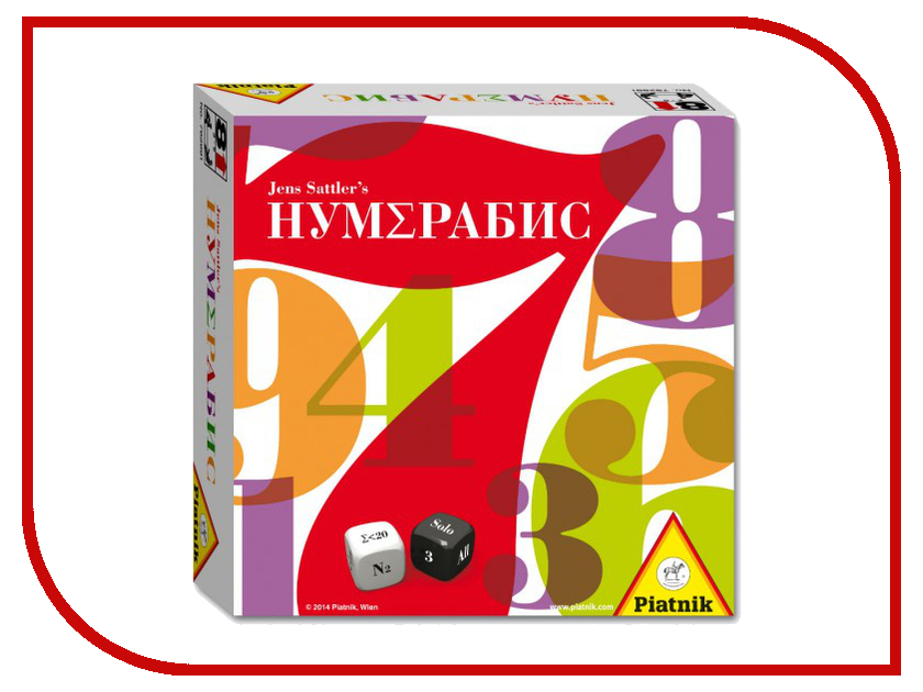 Настольная игра Piatnik НумЕрабис 792991 настольная игра для вечеринки piatnik тик так бумм вечеринка 737497